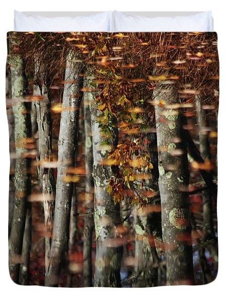 Tree  Reflect Duvet Cover by Karol Livote