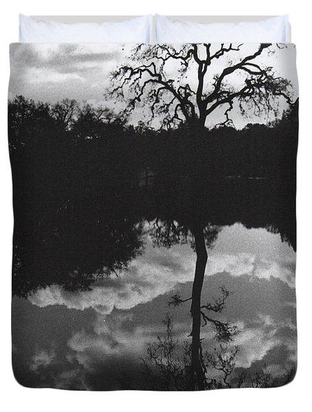 Tree Reflection Sebastopol Ca, Duvet Cover