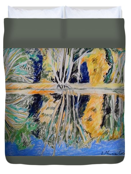 Tree Reflections Duvet Cover by Esther Newman-Cohen