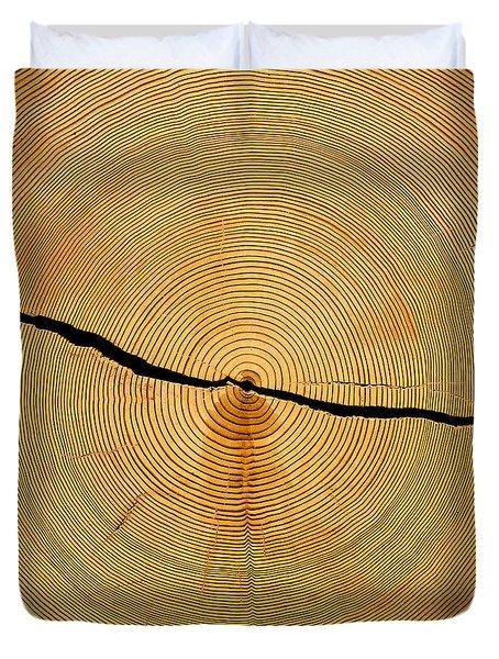 Tree Rings Duvet Cover