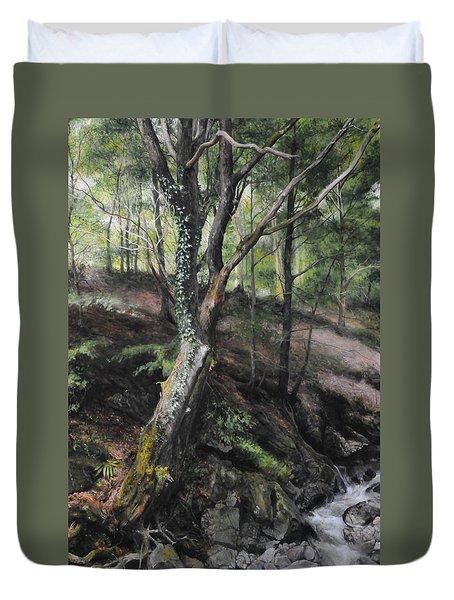 Tree River Wood Duvet Cover