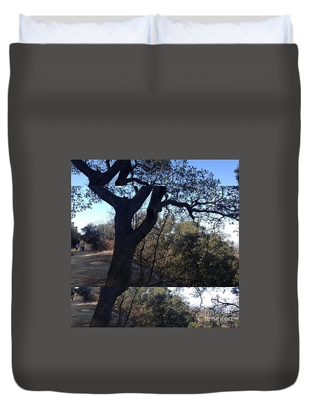 Tree Silhouette Collage Duvet Cover