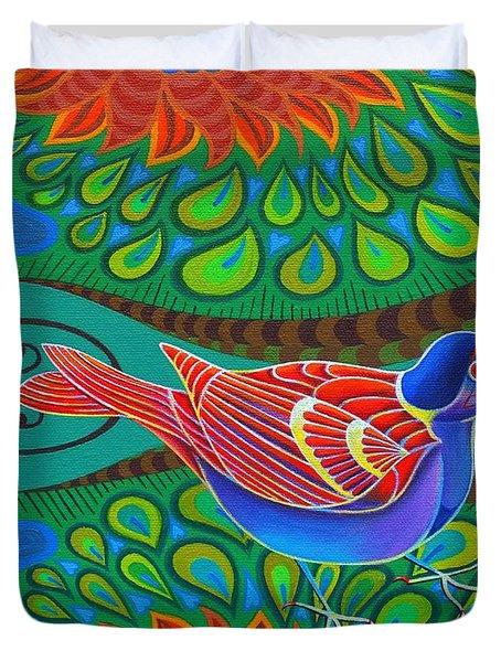 Tree Sparrow Duvet Cover