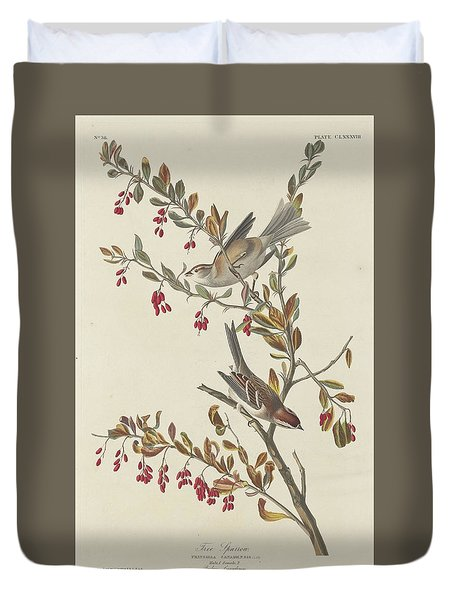 Tree Sparrow Duvet Cover by Rob Dreyer