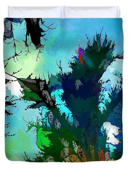 Tree Spirit Abstract Digital Painting Duvet Cover