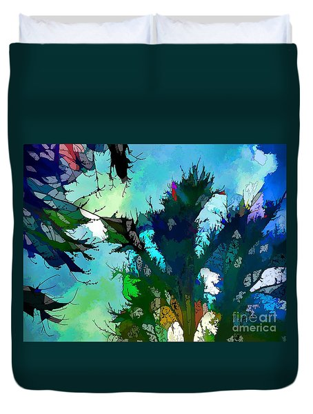Tree Spirit Abstract Digital Painting Duvet Cover