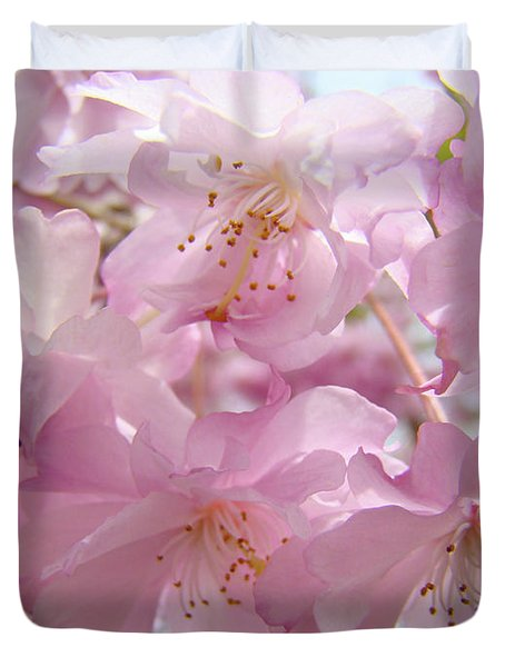 Tree Spring Pink Flower Blossoms Art Print Baslee Troutman Duvet Cover by Baslee Troutman
