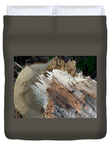Duvet Cover featuring the photograph Tree Stump by Richard Ricci