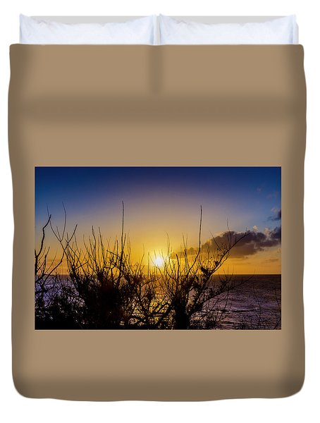 Tree Sunset Duvet Cover