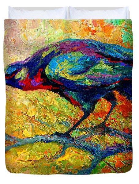 Tree Talk - Crow Duvet Cover