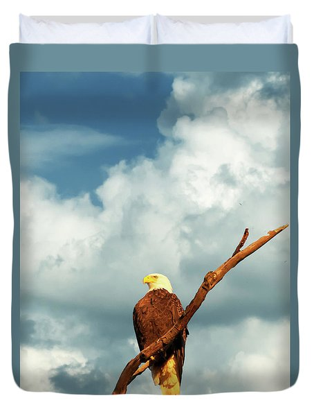 Tree Top Eagle  Duvet Cover