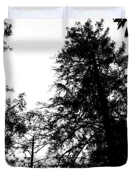 Tree Tops In Monotone Duvet Cover