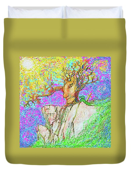 Tree Touches Sky Duvet Cover by Hidden Mountain and Tao Arrow