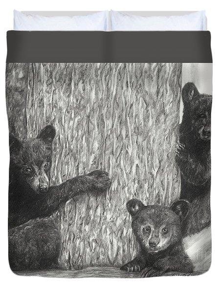 Tree Trio  Duvet Cover