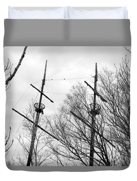 Duvet Cover featuring the photograph Tree Types by Valentino Visentini
