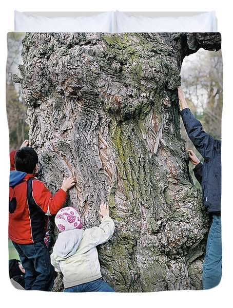 Tree Urchins Duvet Cover