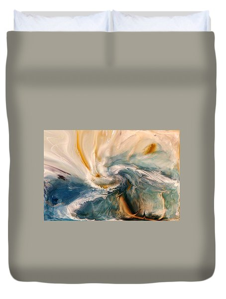 Duvet Cover featuring the digital art Tree Wind by Linda Sannuti