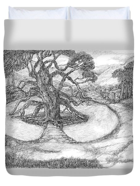 Tree Witch Is There Duvet Cover