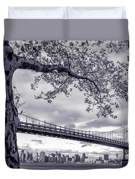 Tree With A Bridge Duvet Cover