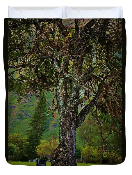 Tree With Character Duvet Cover by Craig Wood