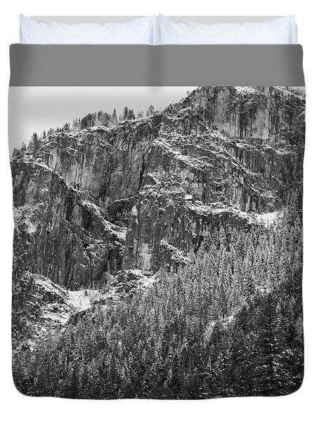 Duvet Cover featuring the photograph Treefall by Lora Lee Chapman