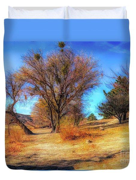 Trees Along Elizabeth Lake Duvet Cover