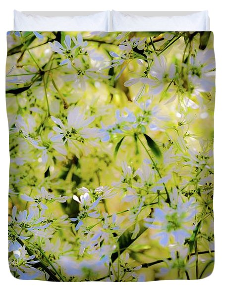 Trees And Flowers Duvet Cover