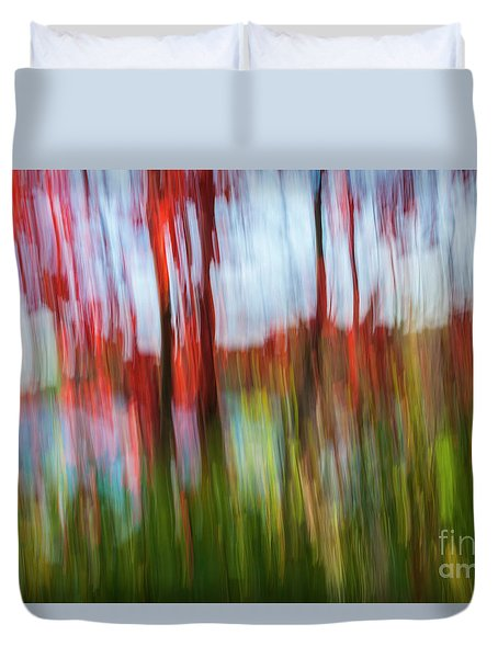 Duvet Cover featuring the photograph Trees And Lake by Elena Elisseeva