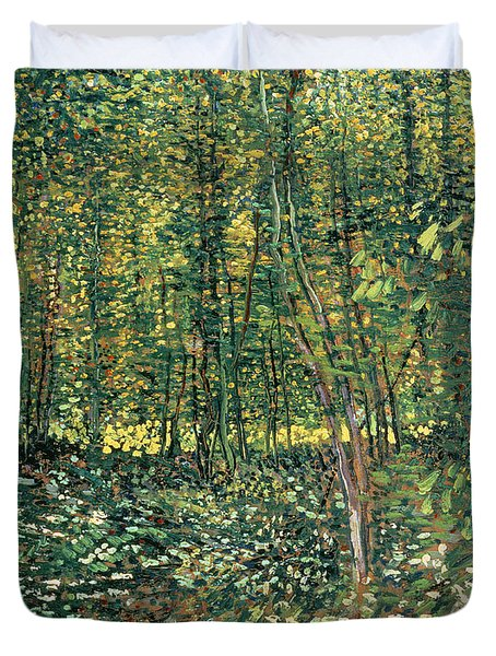Trees And Undergrowth Duvet Cover by Vincent Van Gogh