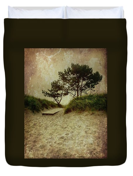 Trees By The Sea Duvet Cover