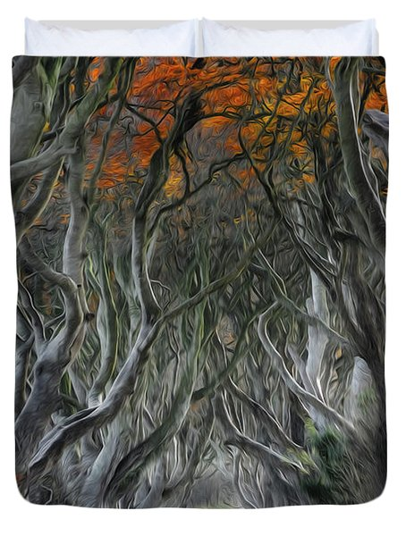 Trees Embracing Duvet Cover
