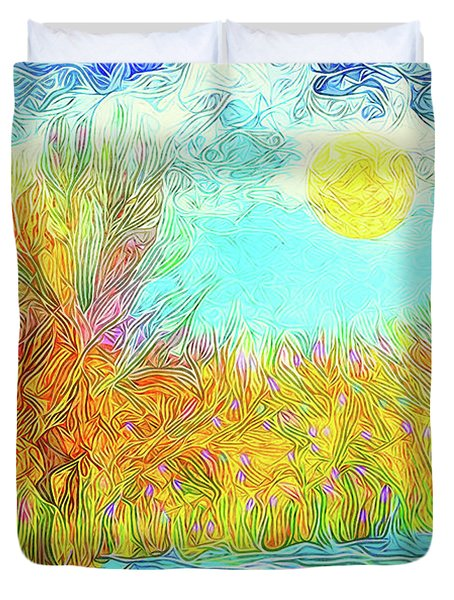 Duvet Cover featuring the digital art Trees Flow With Sky - Boulder County Colorado by Joel Bruce Wallach