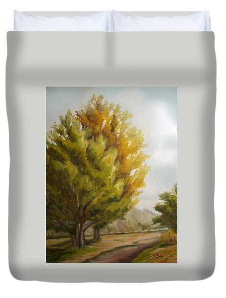 Trees In Boulder Duvet Cover