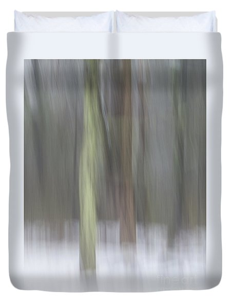 Trees In Fog II Duvet Cover