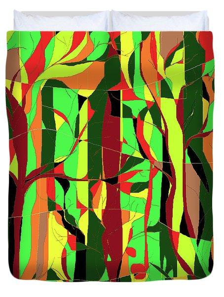 Trees In The Garden Duvet Cover