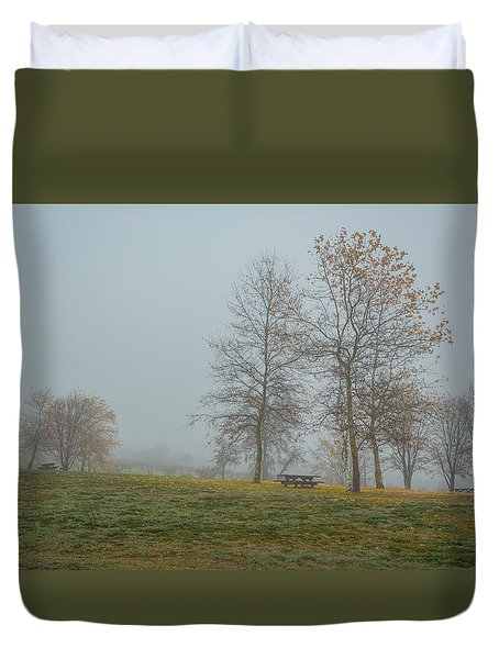 Trees In The Park Crop Duvet Cover