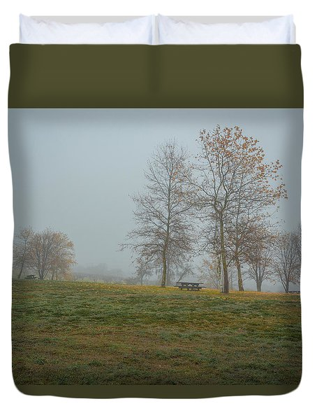 Trees In The Park Duvet Cover