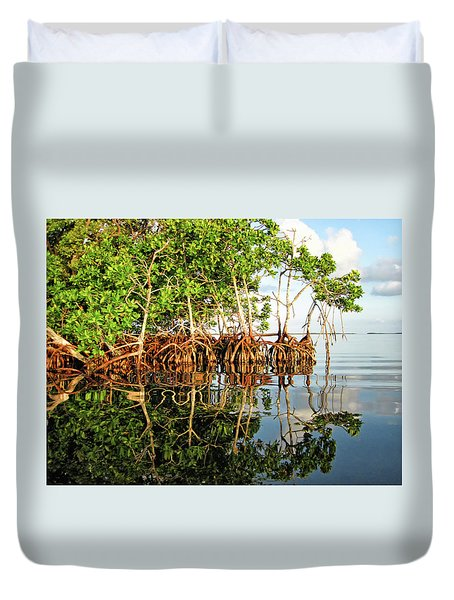 Trees In The Sea Duvet Cover