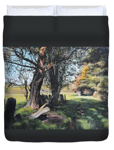 Trees Near Rhug. Duvet Cover by Harry Robertson