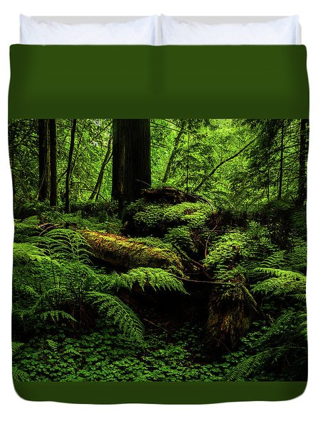 Duvet Cover featuring the photograph Trees Of Mystery by TL Mair