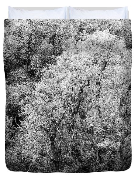 Trees On The River Duvet Cover