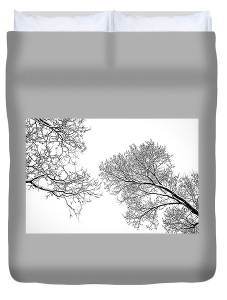 Duvet Cover featuring the photograph Trees Reaching by Marilyn Hunt