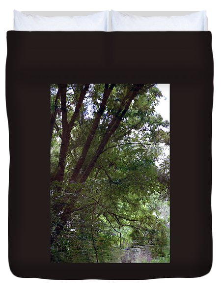 Trees Reflected In A Woodland Stream 2867 H_2 Duvet Cover