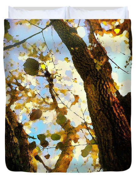 Treetop Abstract-look Up A Tree Duvet Cover