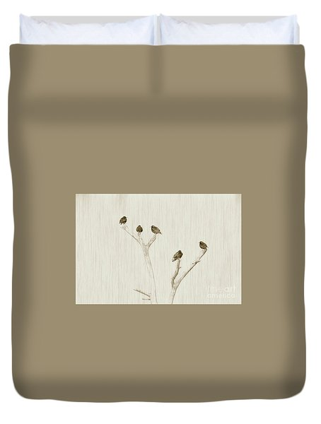 Treetop Starlings Duvet Cover