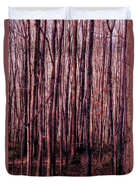 Treez Red Duvet Cover