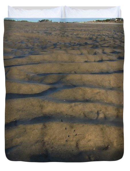 Trekking Alien Terrain Duvet Cover