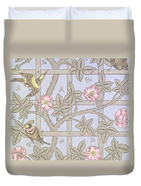 Trellis   Antique Wallpaper Design Duvet Cover