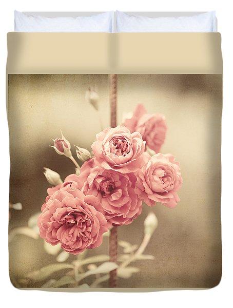 Trellis Roses Duvet Cover by Lisa Russo
