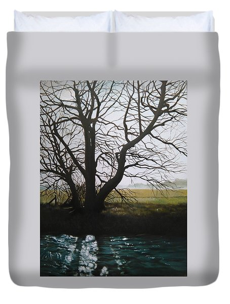 Trent Side Tree. Duvet Cover